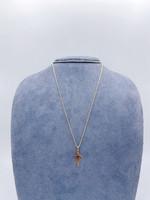 "Marathon Company 10 Karat Yellow Gold+ Cross Necklace 18"""