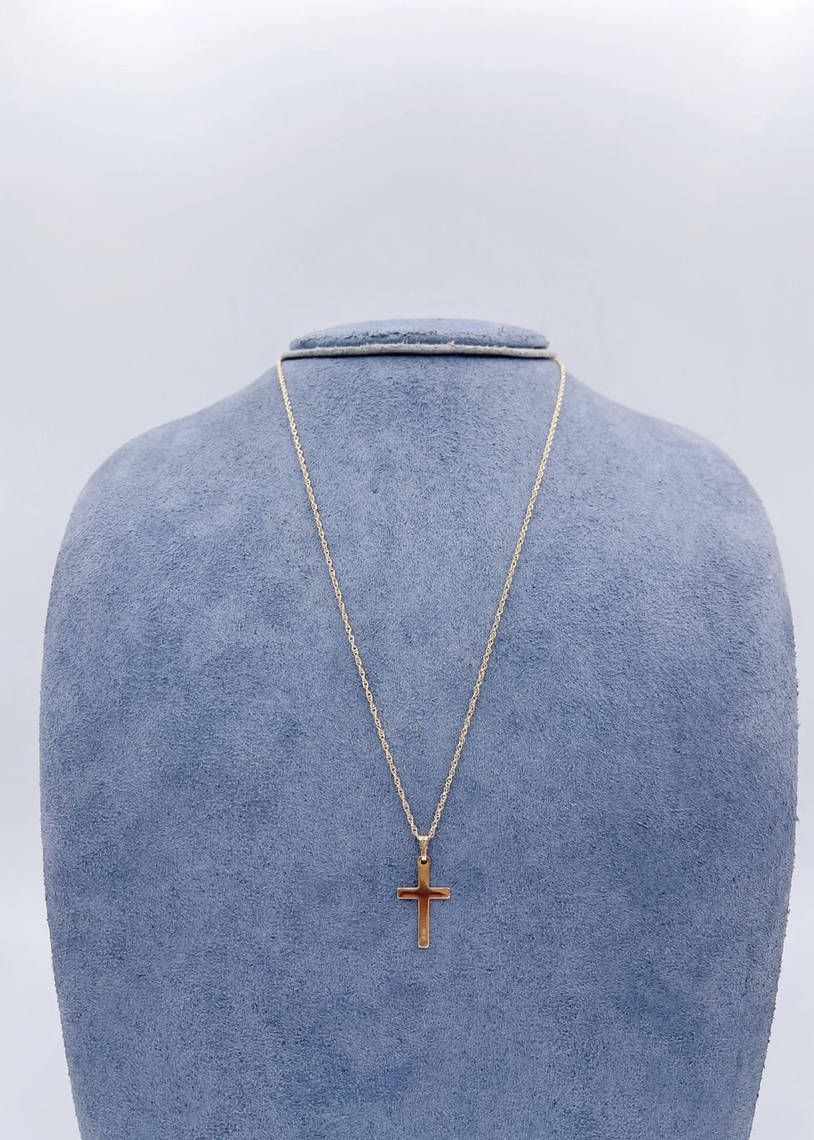 "Marathon Company Yellow 10k Cross Necklace 18"""