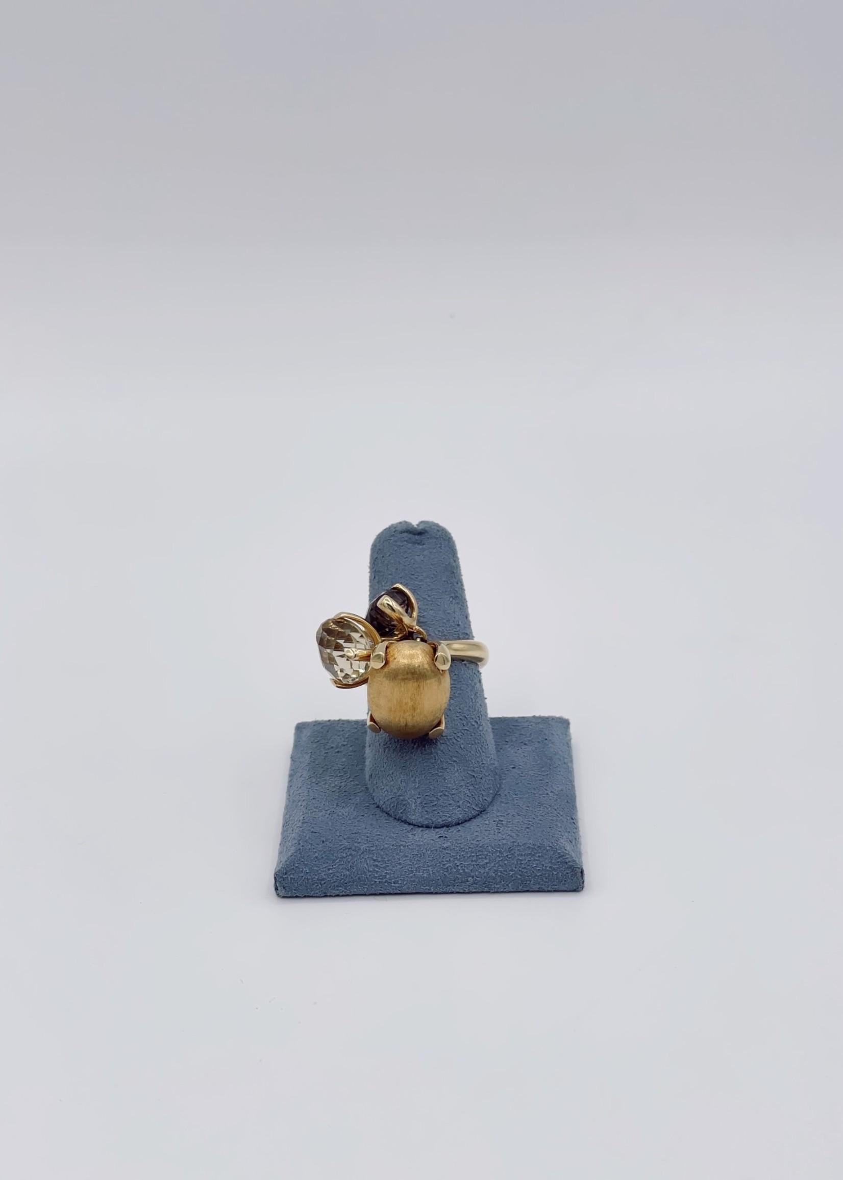 Estate Fashion Ring 18k Quartz