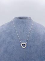Jye International Diamond Heart pendant 18k W .55tw