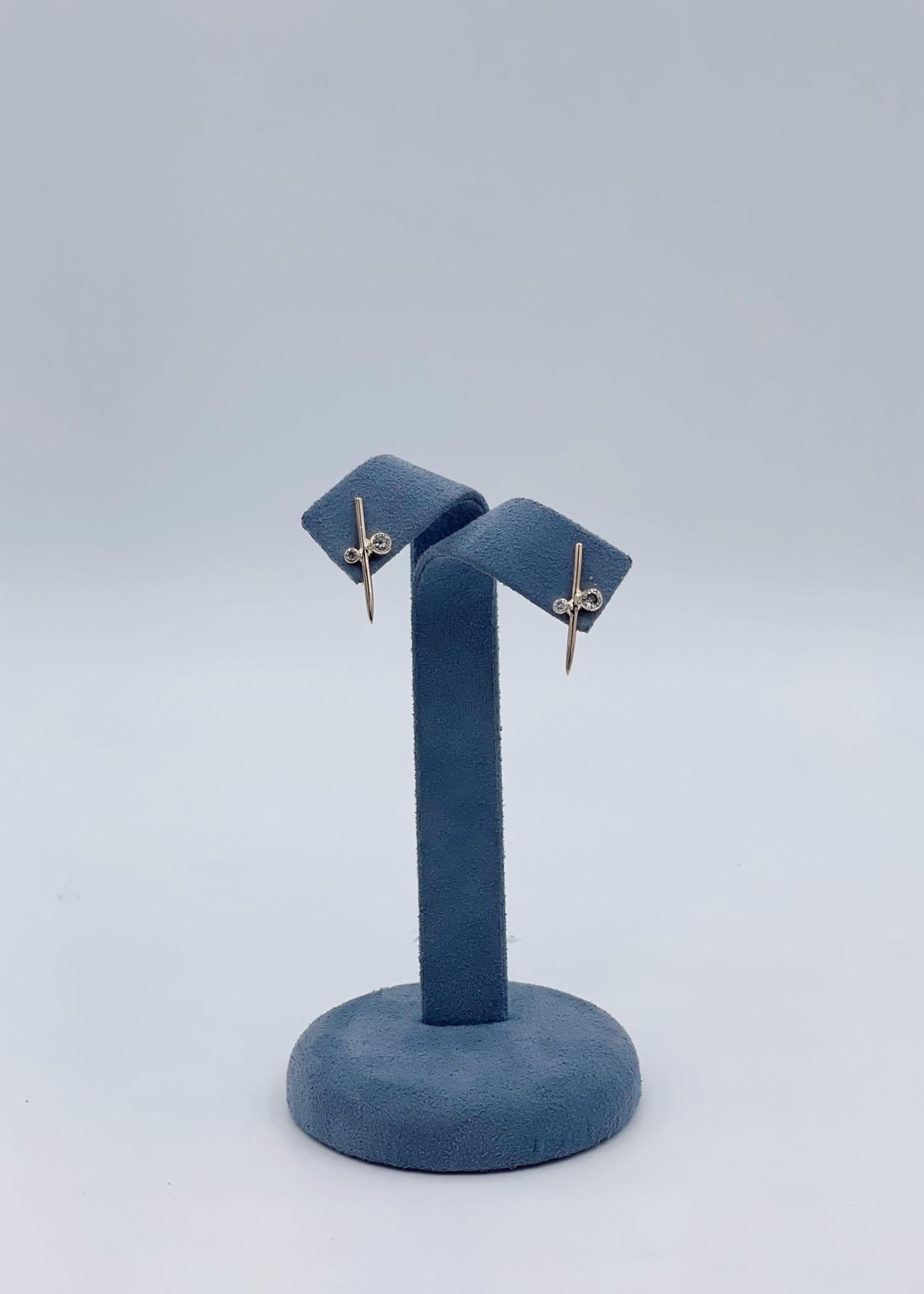 CJ Designs Lady's Earrings 14k Yellow Diamonds =.45ctw