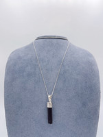CJ Designs Black Tourmaline Pendant Sterling Silver