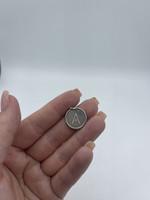 stuller Roxy Diamond Inital Pendant, 14k white gold, 0.07ctw