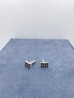 Zina Sterling Silver Jester Pattern Cufflinks