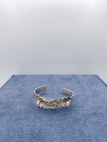 CJ Designs Leaf Cuff Bracelet with Diamonds