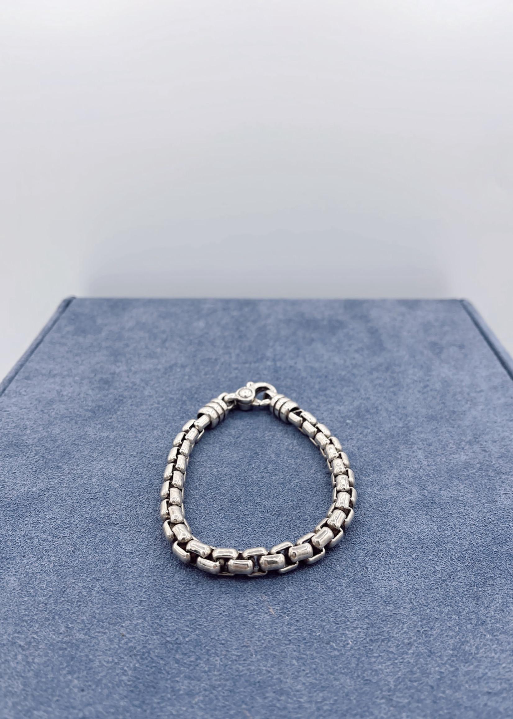Zina Sterling Silver Stratus/Venitian Link Bracelet