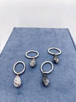 Shoshana Gol Quartz & Steel Key Rings