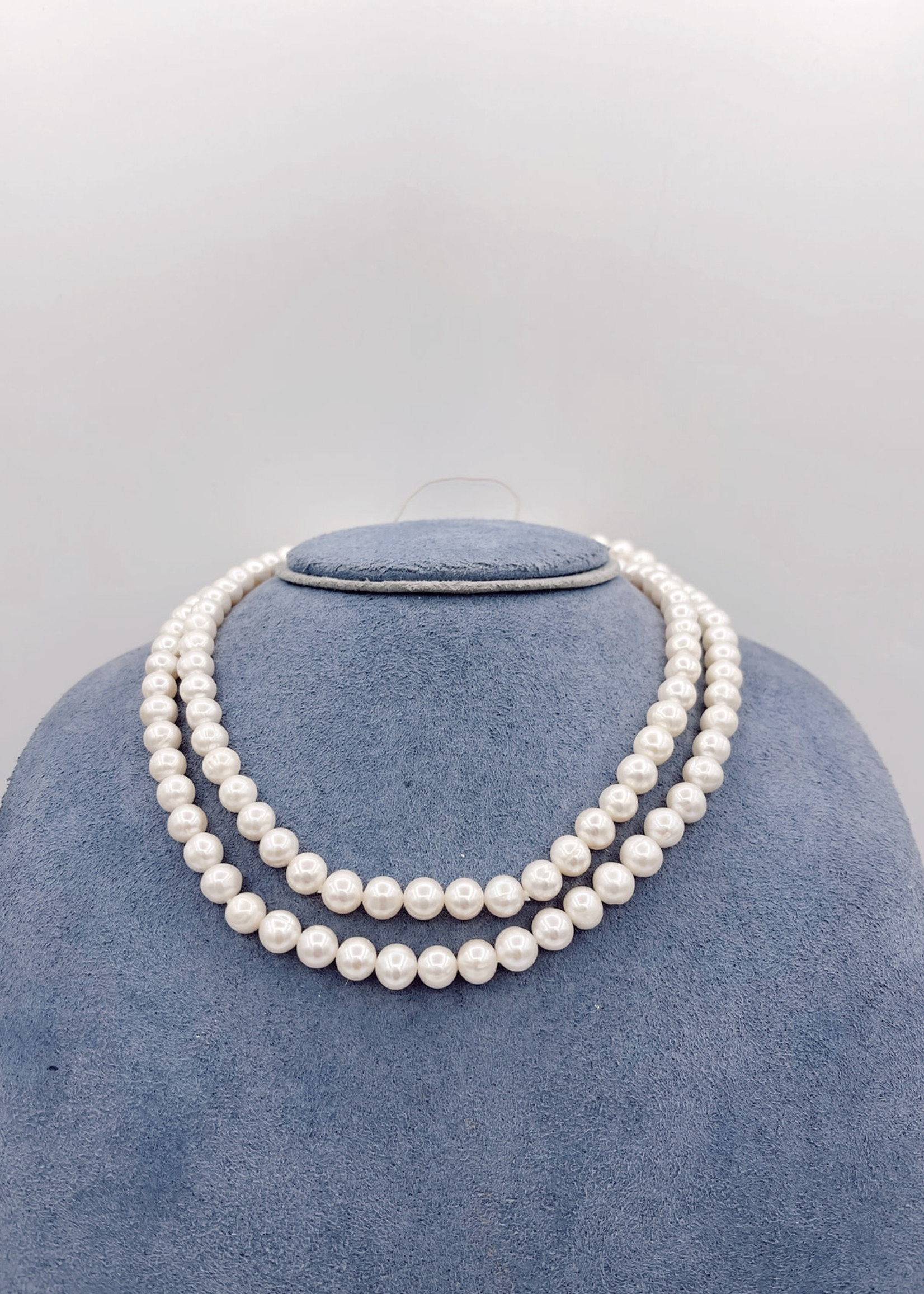 """China Pearl Endless Necklace 7-8mm FWP 32"""""""