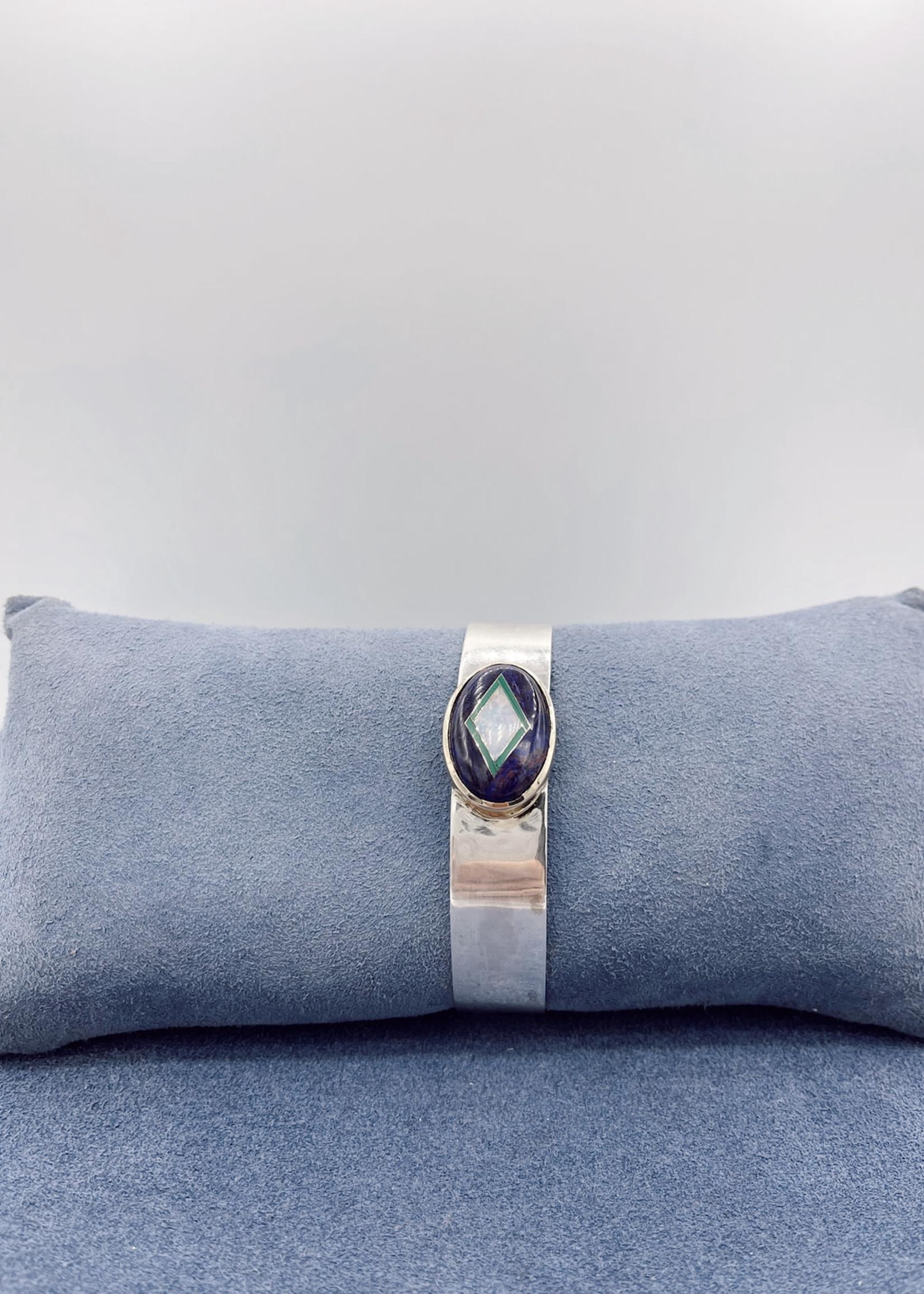 CJ Designs Cuff Bracelet Opal, Malachite, Purple Sodalite