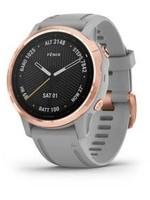Garmin Fenix 6S Sapphire, Rose Gold w.Gray Band. GPS Watch