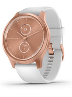 Garmin Garmin Watch, Vivomove Style Rose Gold, White Silicone Band