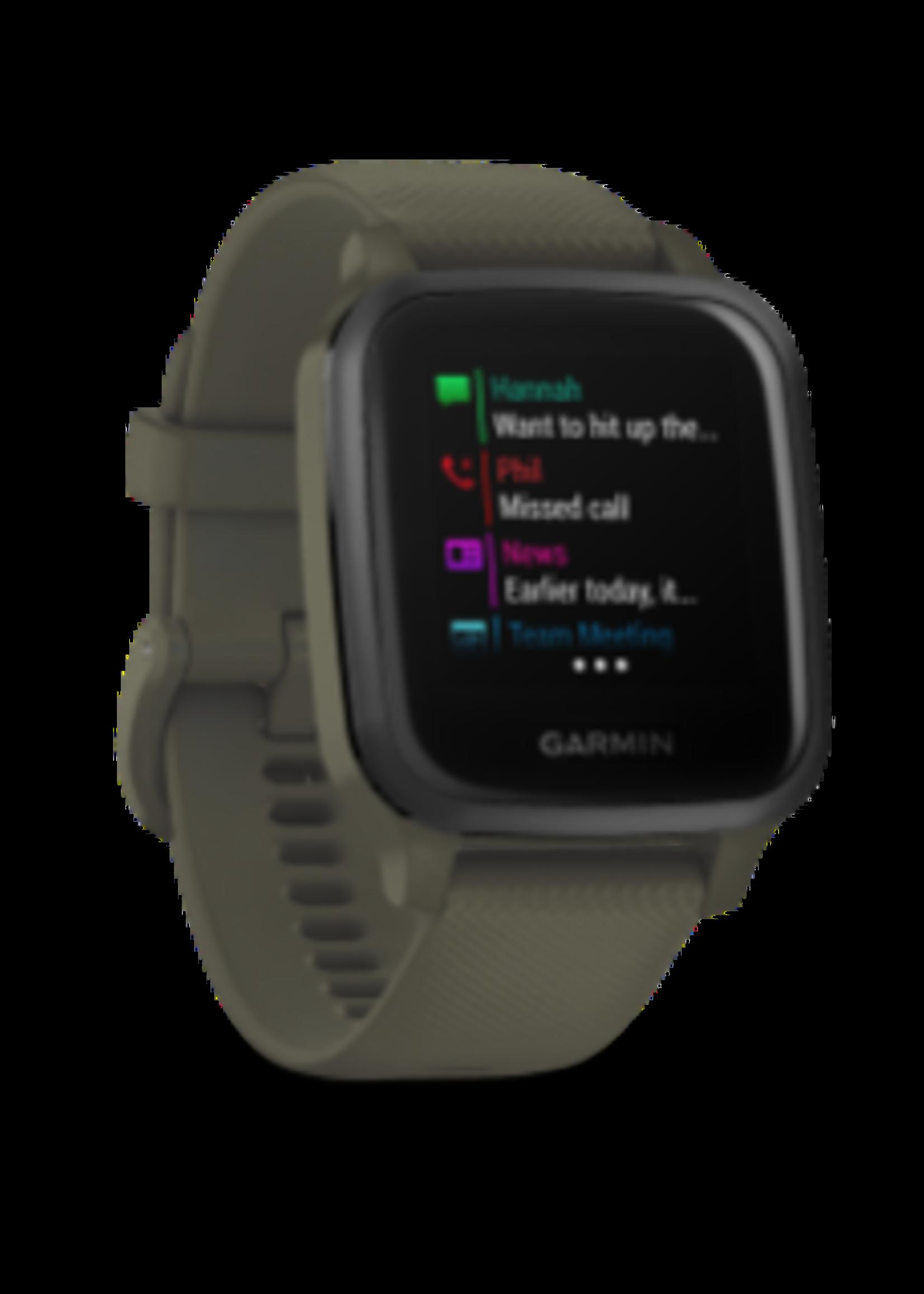 Garmin Garmin Watch Aluminum with Moss Case / Silicone Band