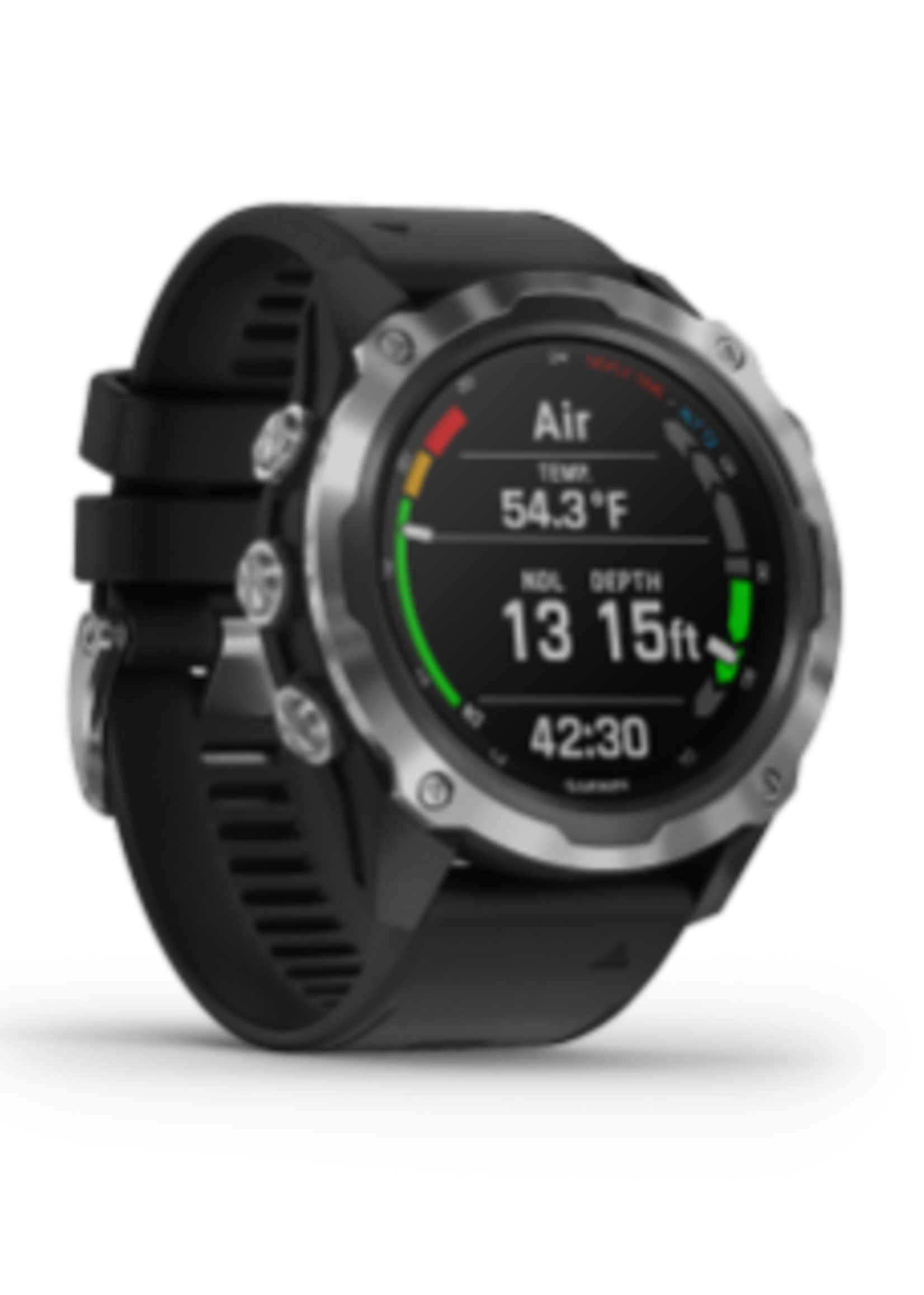 Garmin Descent™ Mk2, Stainless Steel with Black Band