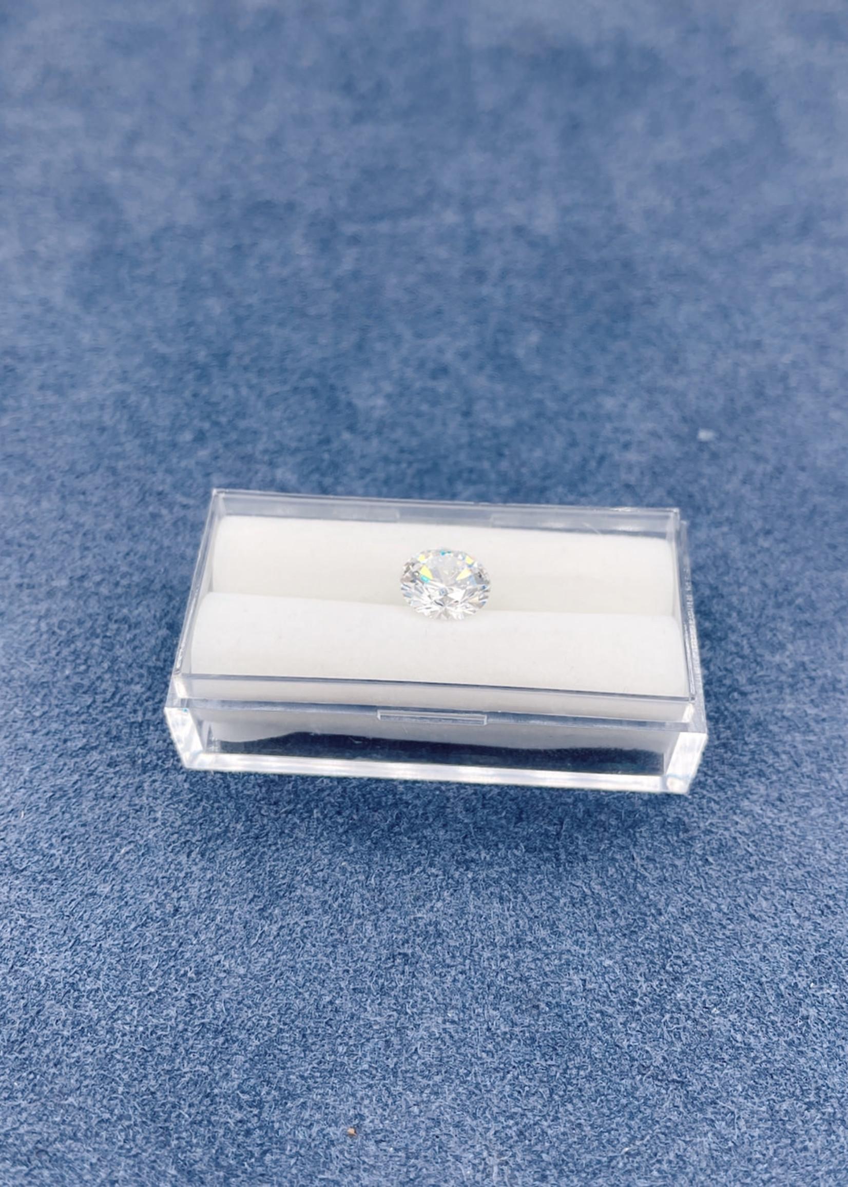 Lannyte Lannyte Round Cut 3.26cts 8mm White