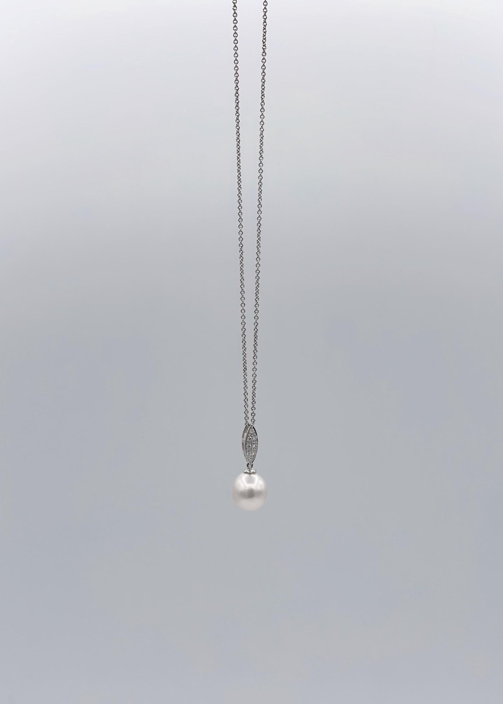 DSL Pearl MEMO Diamond Pearl Necklace