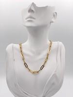 "Franco Stellari 16"" Sterling Silver w/ 18k Gold platted Chain"