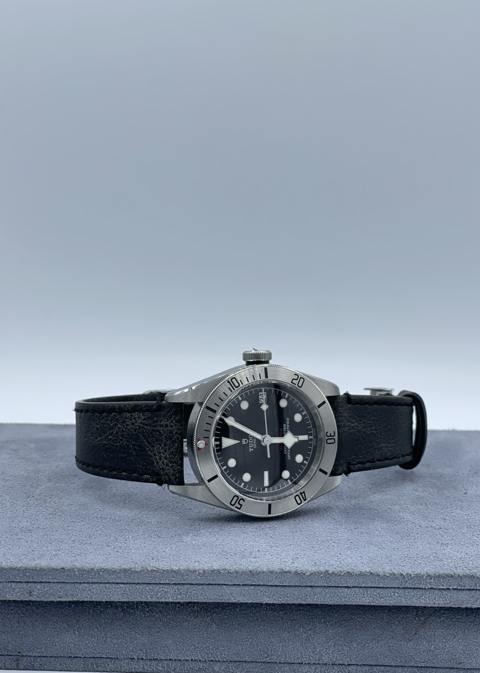 Tudor Tudor Watch Stainless Steel with Black Leather Band