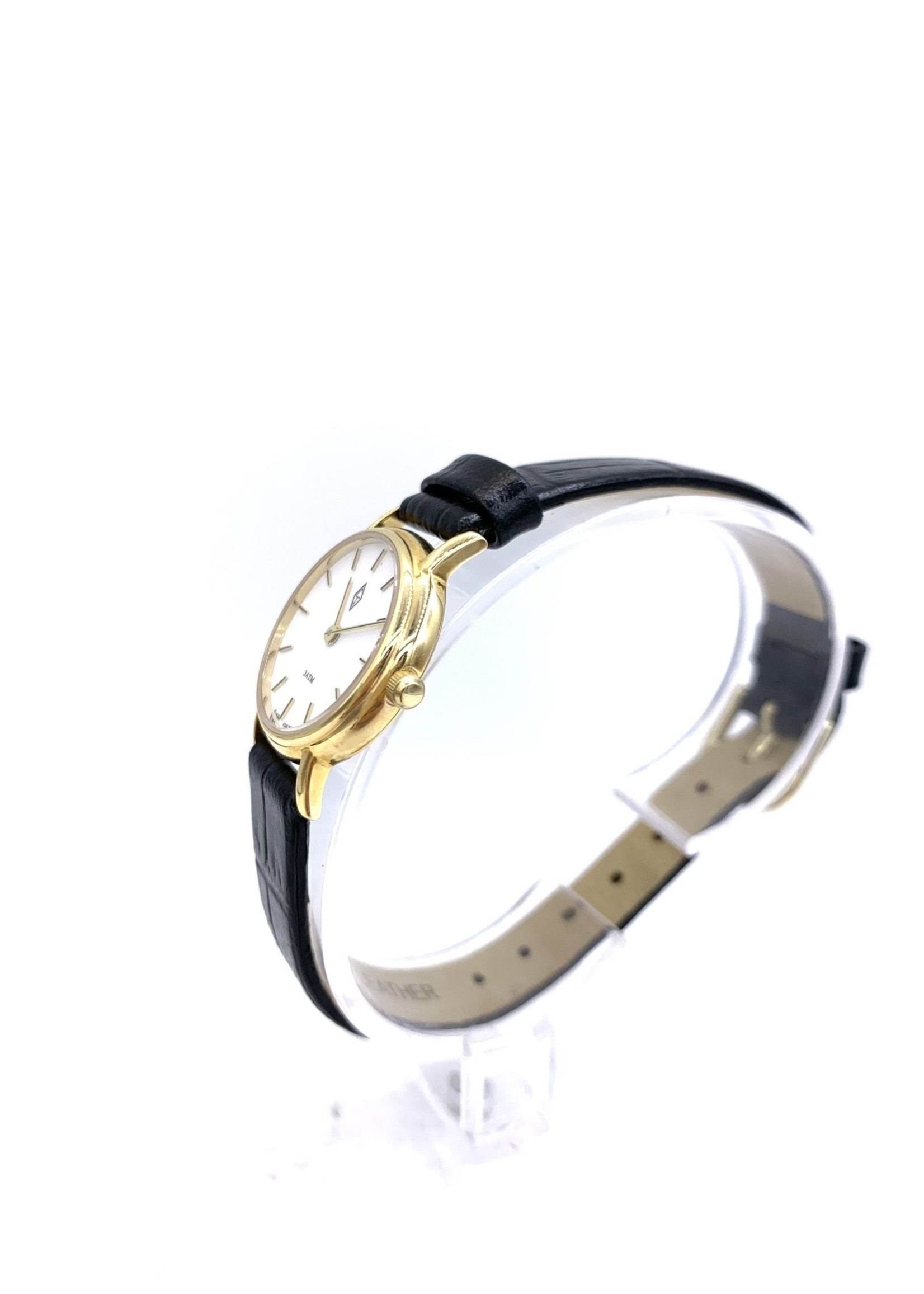 Belair Time Corp Cj Design Watch 14k Yellow with Strap Buckle