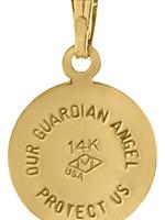 "Marathon Company Baby Guardian Angel 14k Yellow 15"""