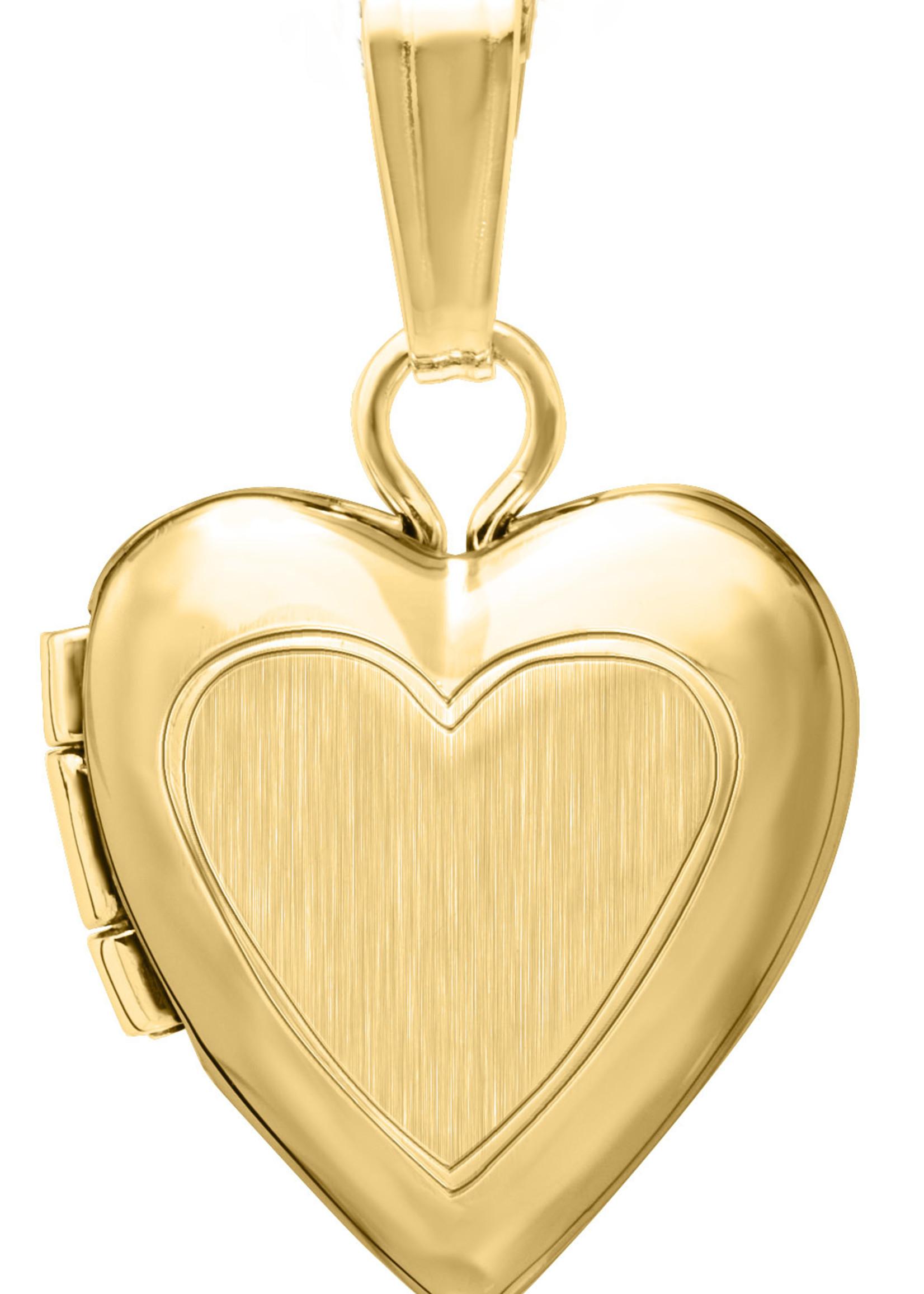 """Marathon Company Baby Necklace 13"""" 14KY Heart Locket"""
