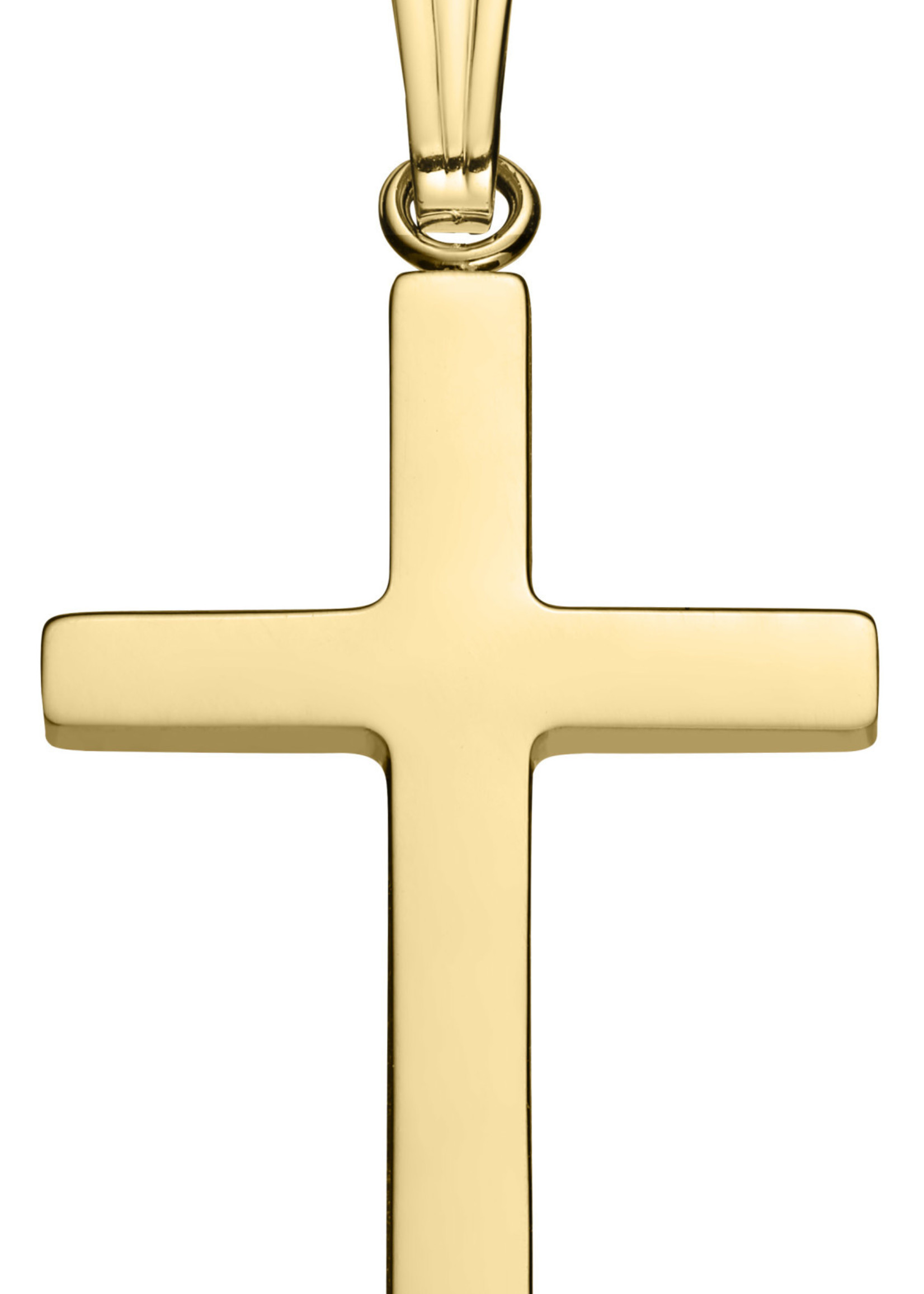 "Marathon Company Cross Necklace 14k Yellow 18"""
