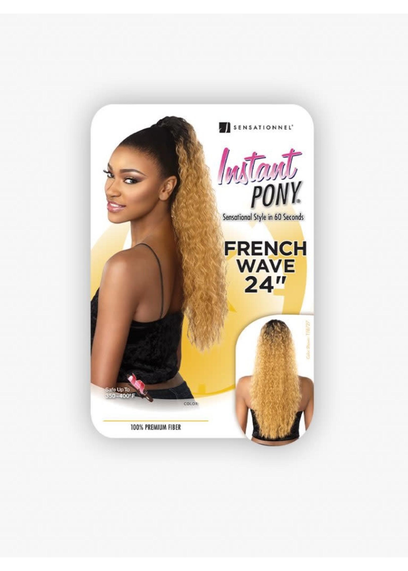 "Sensationnel Instant Pony French Wave 24"""