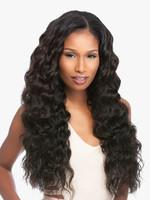 Sensationnel Loose Deep Virgin Remi Human Hair Bundles + Lace Closure