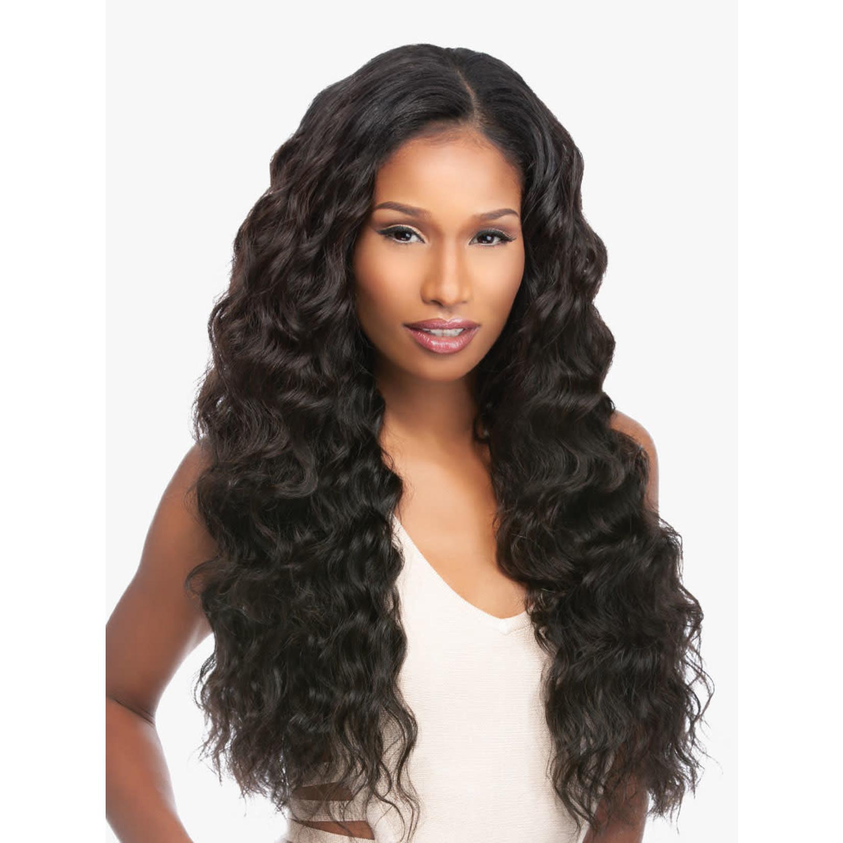 Sensationnel Loose Deep Virgin Remi Human Hair Bundles + Closure