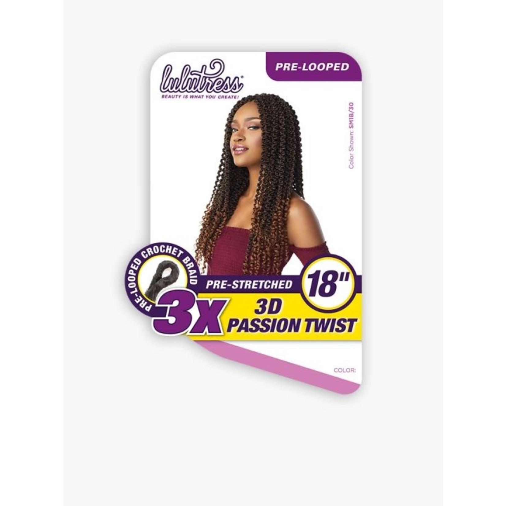 """Sensationnel 3X 3D Passion Twist 18"""""""