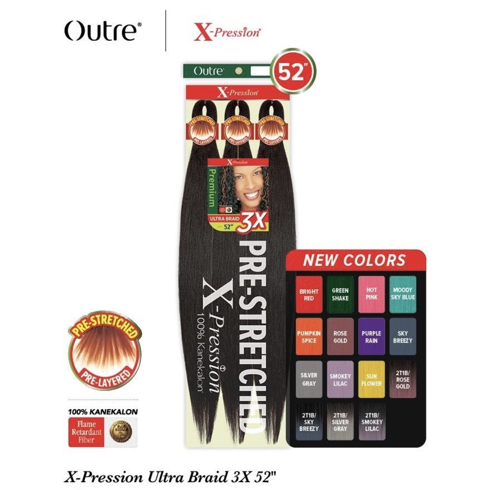 """Outre 3X Xpression Pre-Stretched 42"""""""