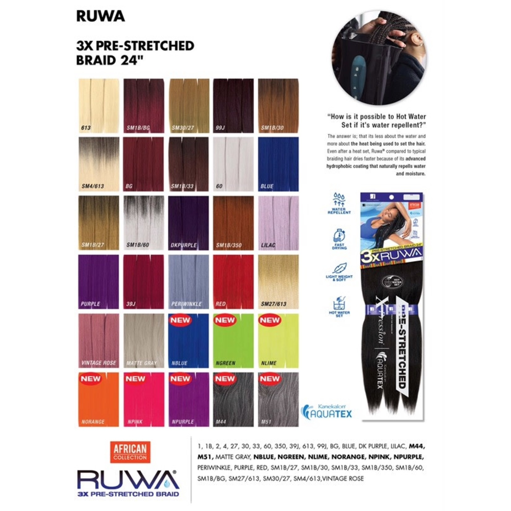 "Ruwa 3X Pre-Stretched Braid 24"""