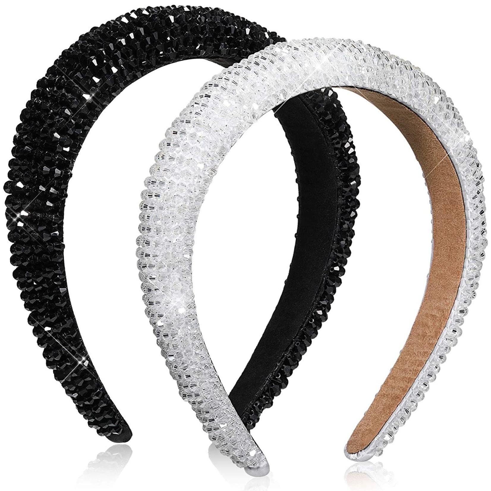 Crystal Beaded Wide Headband