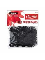 Annie 300 Black Rubber Bands