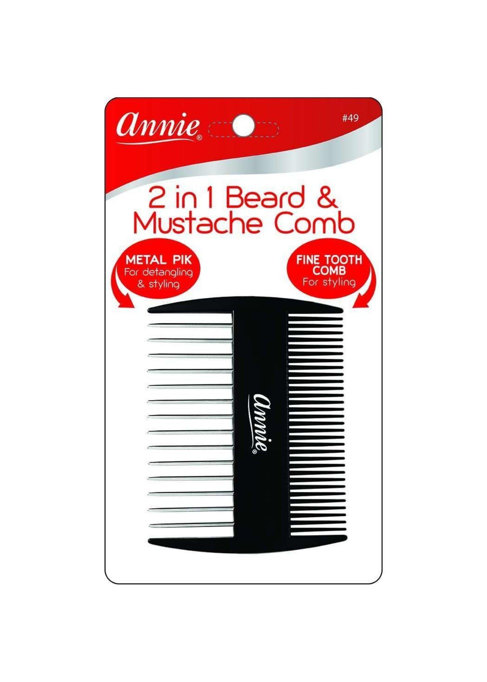 Annie 2 in 1 Beard/Mustache Comb