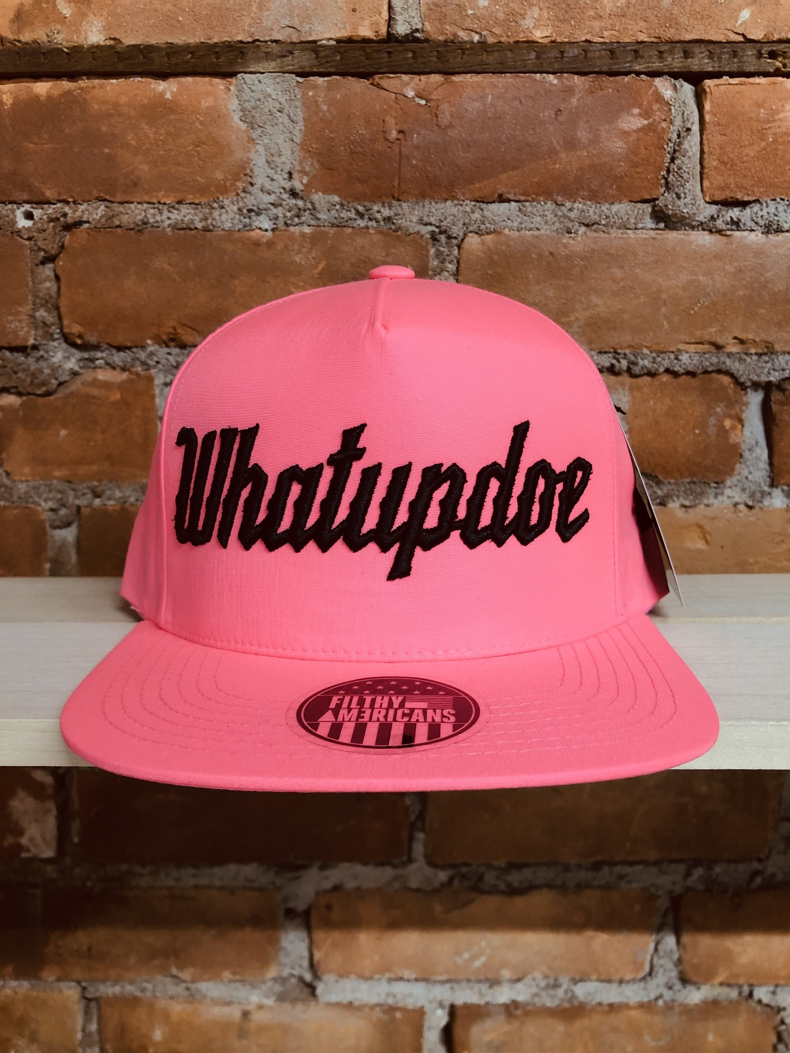ELECTRIFYING PINK WHATUPDOE SNAPBACK