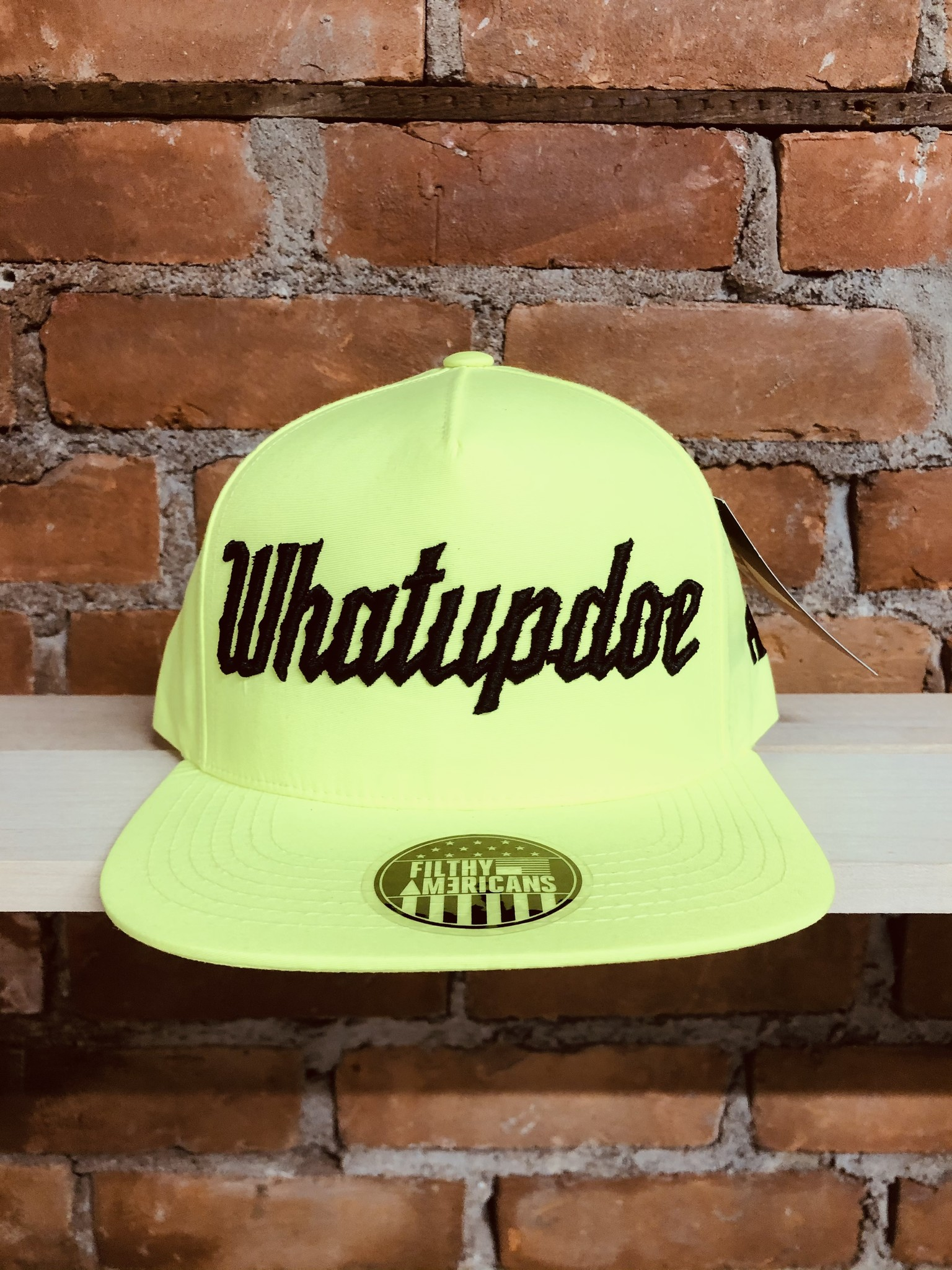 ELECTRIFYING YELLOW WHATUPDOE SNAPBACK