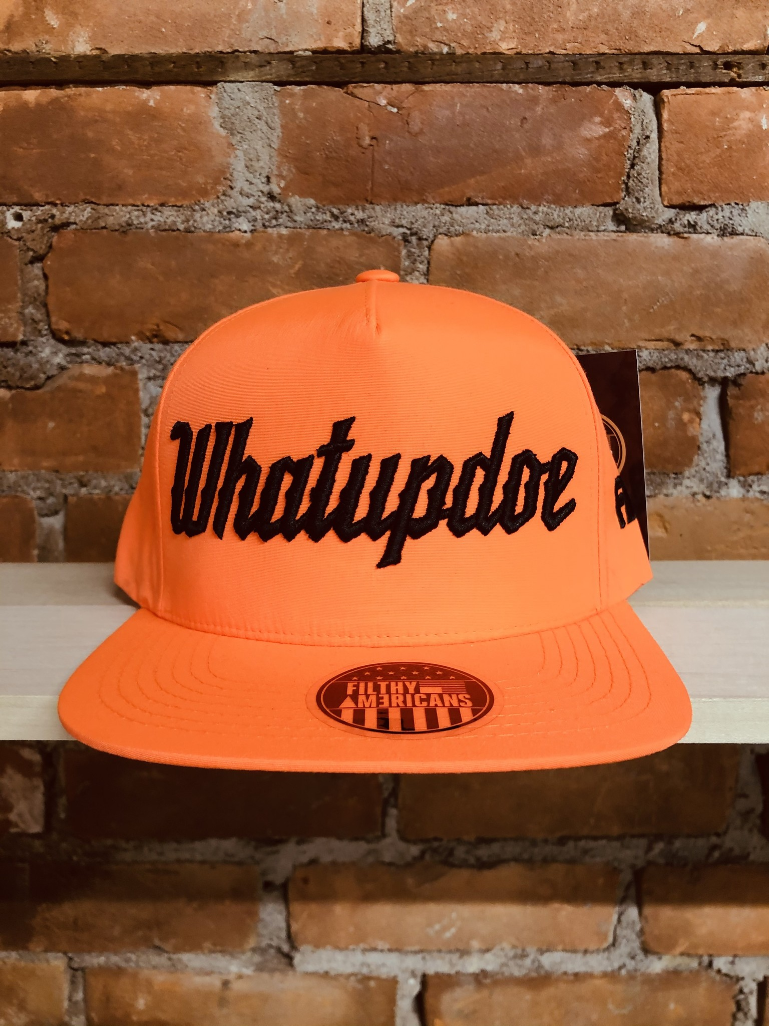 ELECTRIFYING ORANGE WHATUPDOE SNAPBACK