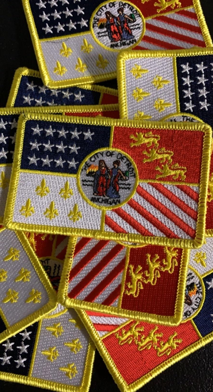 DETROIT FLAG PATCHES