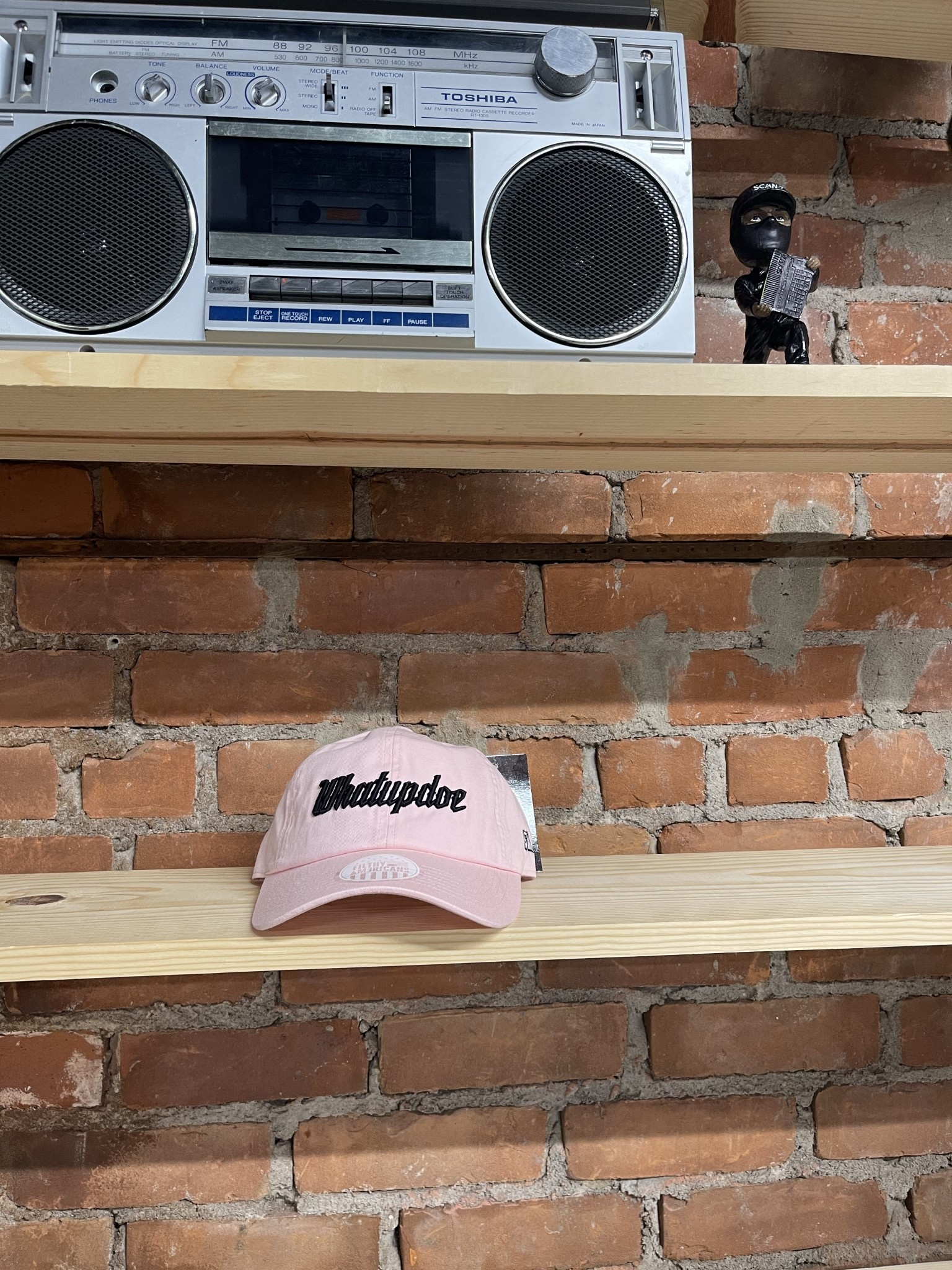 HASH PINK AND BLACK  DAD HAT
