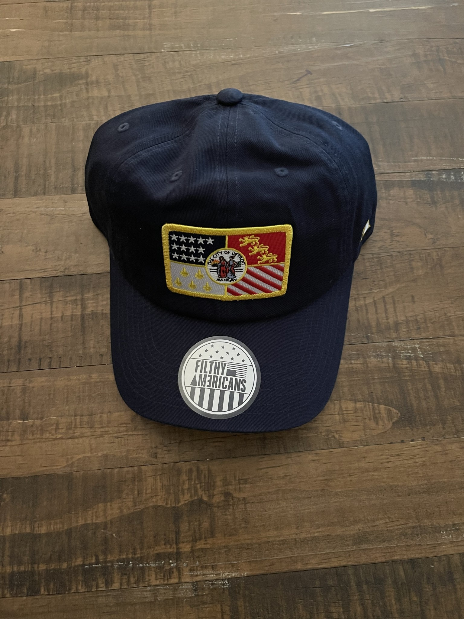 NAVY AND FLAG DAD HAT