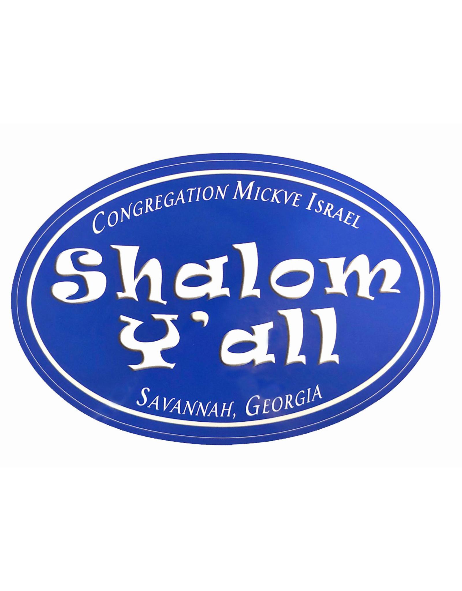 Shalom Y'all Stickers