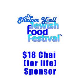 $18 Chai (for life) Sponsor