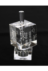 Crystal Dreidel Mah Jongg with Stand
