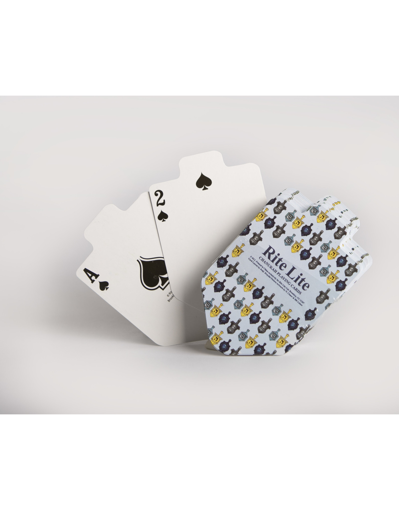 Playing Cards Dreidel Shaped