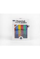 Premium Hand Decorated Rainbow Chanukah Candles