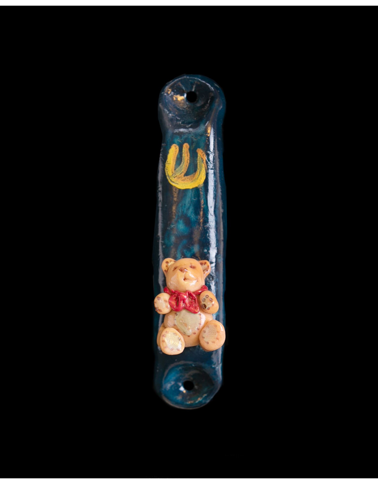 Childrens Teddy Bear Mezuzzah