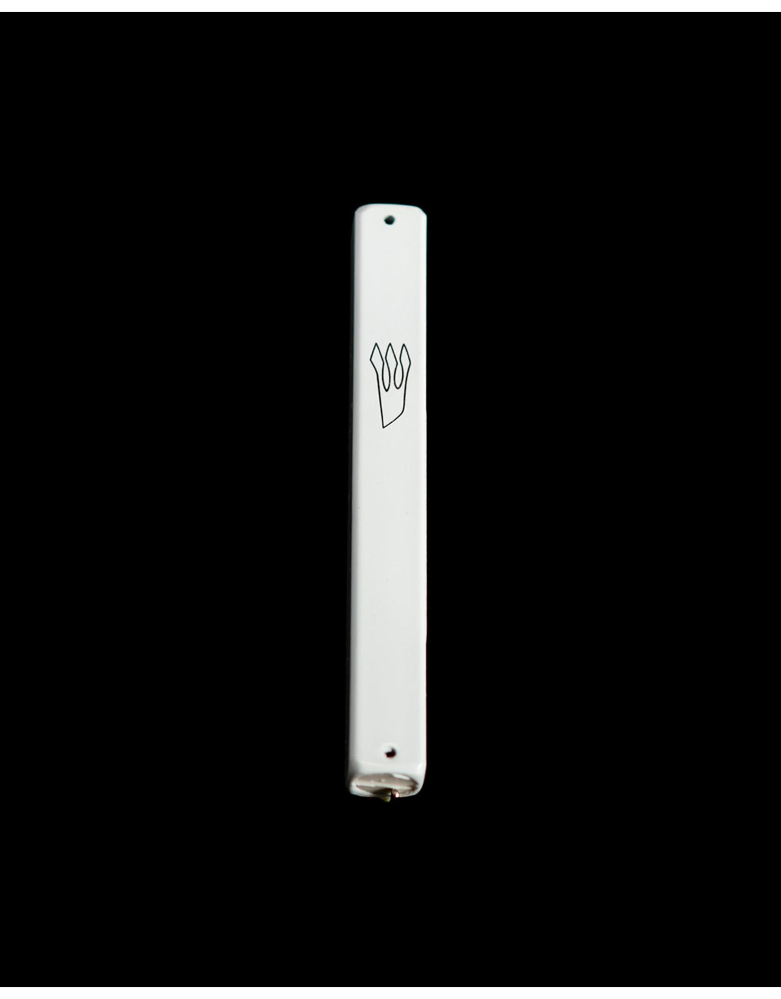 Aluminum Mezzuzah Small White