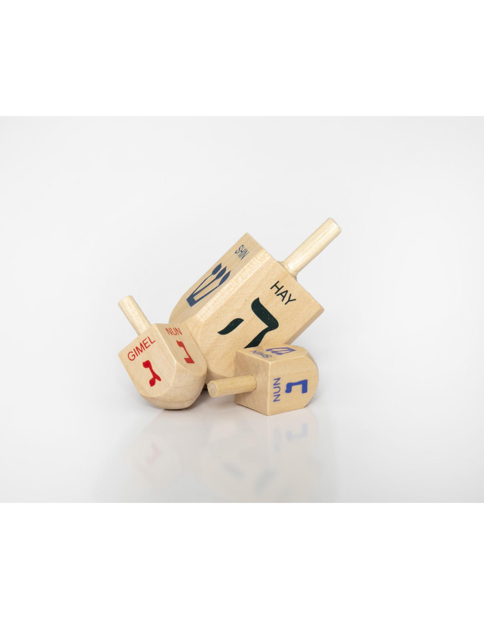 Small wooden dreidels