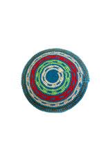 Kippah Crochet red green blue