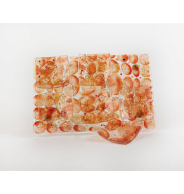 Seder Plate Orange Glass Artisannal